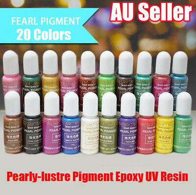 20 Colors Pearly-lustre Pigment Epoxy UV Resin Coloring Dye Colorant Art  15g UE