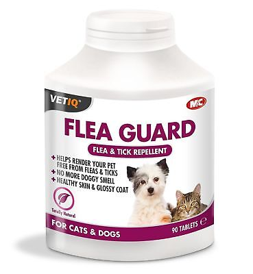 VetIQ Flea Guard 90 Tablets Flea & Tick Repellent - Cats / Dogs SAMEDAY DISPATCH