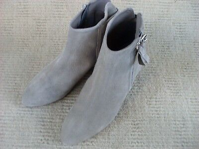 """Brand New Never Worn Ladies Grey & Silver """"n Ext"""" Ankle Boots, Size 40 - 8.5"""