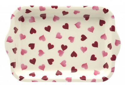 Small Melamine Tray by Emma Bridgewater in Pink Hearts Design