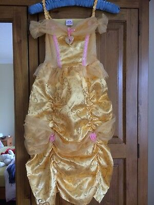 Dress Up Belle Costume Age 5/6 Years With Crown