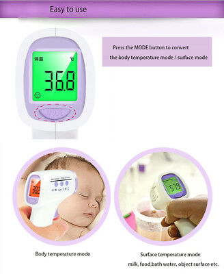 Infrared Gun Thermometer Body Forehead Temperature Monitor Baby & Toddler Health