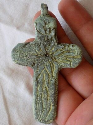 Ancient Bronze Cross    .   Roman . Greek  Byzantine