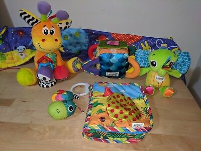 Bulk Lot - Lamaze, Playgro, Bright Starts- Baby Toys and mirror and baby book