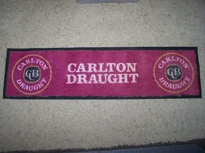 Carlton Draught bar mat runner quality made beer collectable for use or display