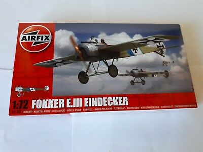 Airfix 01087 Fokker E. III German Air Force Fighter Eindecker Luftwaffe 1:72 WWI