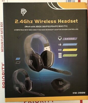 EasySMX Wireless Gaming Headset 2.4G Optical for Xbox One PS4 PS3 Xbox 360 PC E1