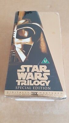 Star Wars Trilogy Special Edition, 1997 VHS Gold Box Set, new and sealed