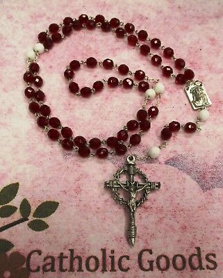 Rosary of the Precious Blood of Our Lord Jesus Christ - 8mm Faceted Beads