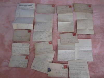 Early 1900's~LOT of 8~Orig.Envelope/Letter/Stamps~April Fool's/Love~& Like/Miss