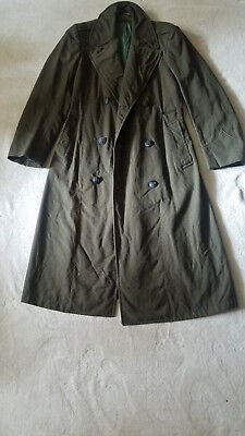 US Marine Corps (USMC)  Wool Trench Coat-36L -Made in Virginia