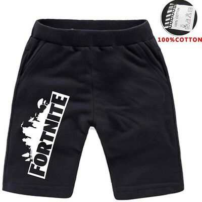 FORTNITE boys black shorts summer Pants 100% cotton size 4-12 AU stock xmas