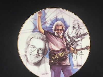 "1997 Jerry Garcia Collectors Plate 8"" Black and White Study With a Touch of Gray"