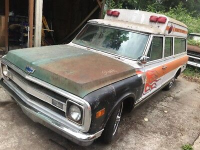 1970 Chevrolet Suburban  1970 chevy c10 suburban ambulance rat rod hot rod