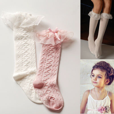 Girls Vintage Toddlers Baby Frilly Lace School Wedding Party Socks  1-9 years