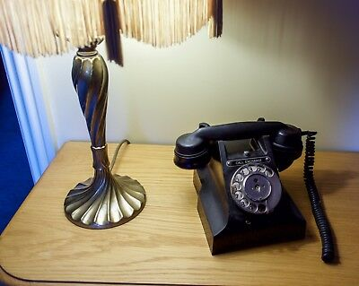 Antique Vintage Black Bakelite Telephone (GPO 312F)