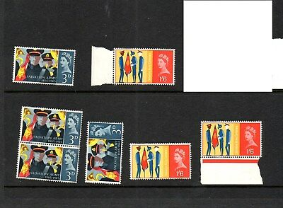 GB - 1965 Salvation Army mix of mint postage stamps
