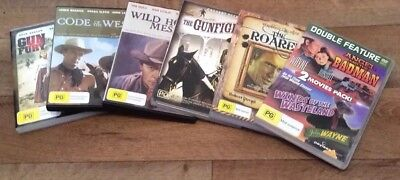 7 Classic Westerns DVD Collection Bulk Lot PG John Wayne Cowboys Rock Hudson