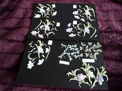 TATTERED LACE 3D DECOUPAGE GARDEN PARTY FUCHSIA DIE CUTS X 10 PLUS FREE DIE CUTS