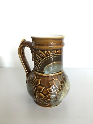 Vintage Greek Studio Pottery Decorative Stoneware Glazed Jug