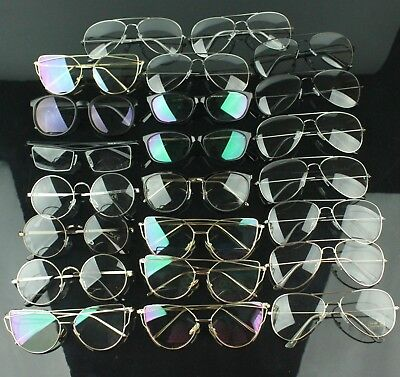 23pcs Wholesale Job Lot Clear Lens Glasses Mixed Shape