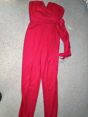 Coast Red Jumpsuit UK14