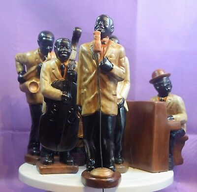 A Vintage Pottery Jazz Band, 6 Pieces Large Size.