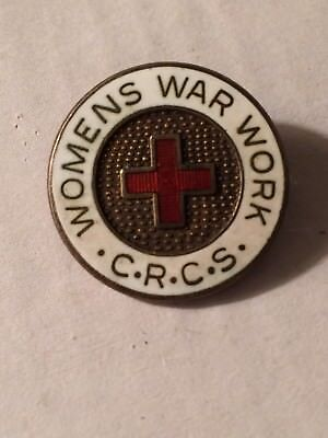 Womens War Work C.R.C.S Sterling Pin