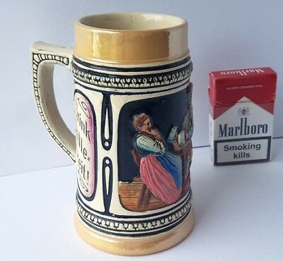Art Nouveau Mug/Beer Mug with Saying, Ceramics, um 1920 - 1930 AL715