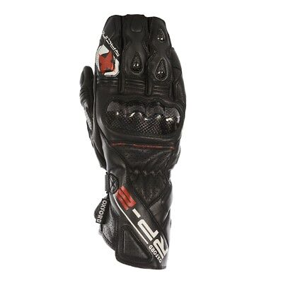 Oxford RP-2 Summer Leather Motorcycle Gloves Tech Black All Sizes