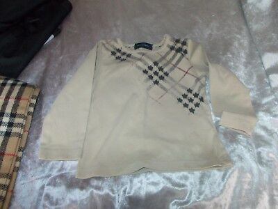 Baby Burberry top age 2 100%genuine