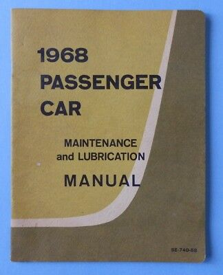 Vintage 1968 Ford Maintenance And Lubrication Manual