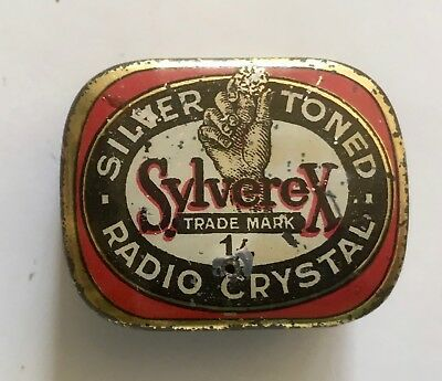 Silverex Crystal Tin 1920s Early Vintage Radio
