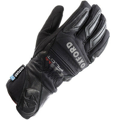 Oxford Pilot 1.0 Leather Motorcycle Insulated Gloves - Black