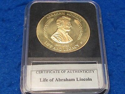 Life of LINCOLN Collectors  Medallion...combine shipping 1 to 25 coins for $2.60