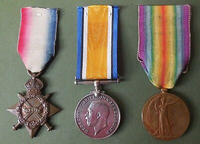 WW1 MEDALS 1914/15 STAR TRIO to Private 44494 F. Walker R.A.M.C.