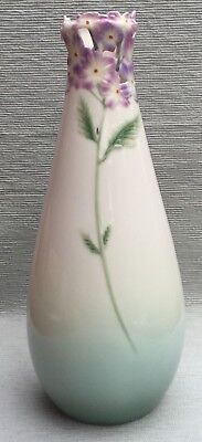 Beautiful tall Franz vase with reticulated floral neck