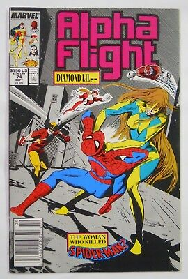 VINTAGE! Marvel Comics Alpha Flight #74 (1989)-Spiderman