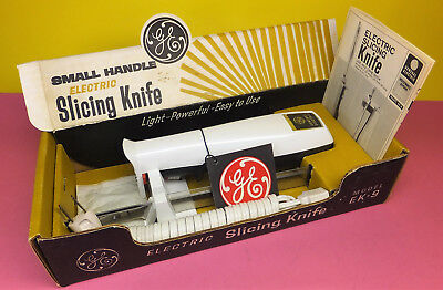 Vintage 1960's GE Electric Knife MIB Unused CLEAN Complete Mid Century Retro SET