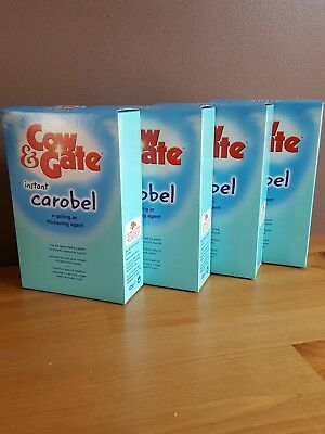 4 x cow gate instant  carobel milk thickener for reflux