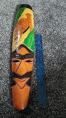 hand carved and  hand painted wood mask,tribal turtles,ethnic wood beautifully