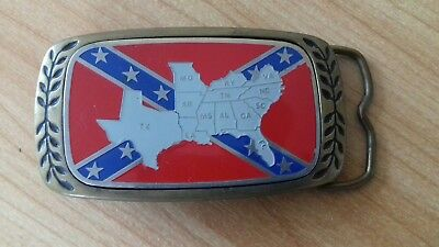 """Aminco 1980's Solid Brass Buckle """"united States"""""""