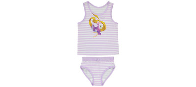 Girls Disney Rapunzel Vest And Briefs Set Bnwt All Ages Underwear