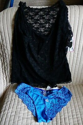 M & S ladies knickers  and a lacey vest top BRAND NEW