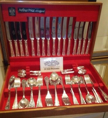 Vintage 84 Piece Silver Plated Canteen Cutlery Dubarry By John Turton 8 Place