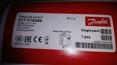 Danfoss Druckschalter Rt112 Range 0 1,1 Bar Differenzielle 0,07 0,16 017-519266