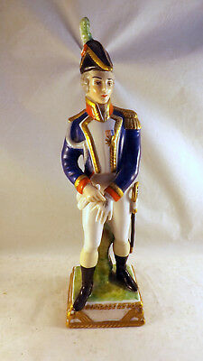 Vintage Capodimonte Figure - Army Officer French Republic c1790