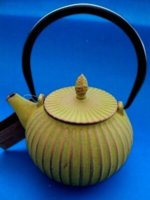NWT 27 fl oz. Cast Iron Teapot Kettle With Lid and Inner Stainless Steel Infuser