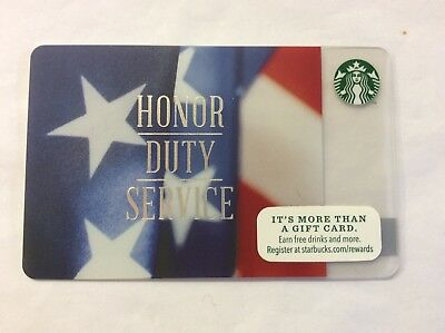 Starbucks Card USA Honor Duty Service