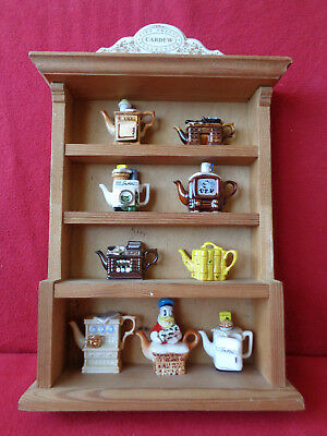 *exquisite Set Of 9 Cardew Tiny Teapots In A Genuine Cardew Display Unit**brill